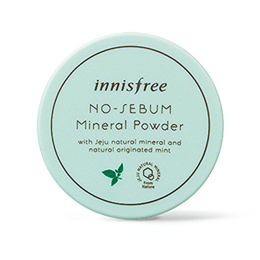 Рассыпчатая матирующая минеральная пудра INNISFREE No Sebum Mineral Powder Mint - 5г