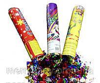 """Пневмохлопушка """"Праздник + Новый год микс """" 20 см конфетти 1 шт."""