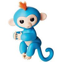 Интерактивная обезьянка fingerlings happy monkey (цвет голубой)