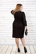 Женское стройнящее платье шоколадного цвета 0727 / размер 42-74 / батальное, фото 4