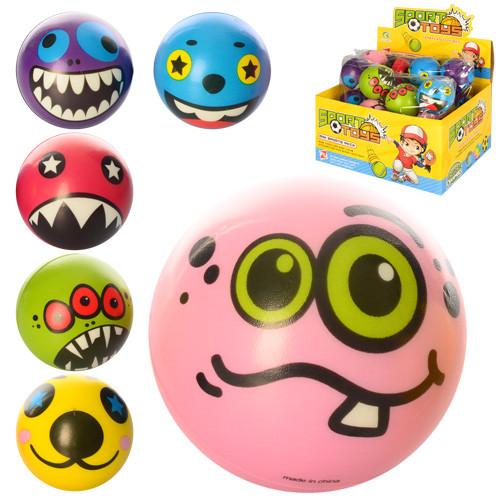 Мяч детский фомовый E2518 (864шт) 6см, монстры, 24шт(микс видов) в дис