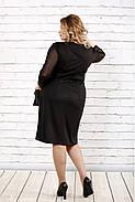 Женское стройнящее платье черно-белого цвета 0727 / размер 42-74 / батальное, фото 4