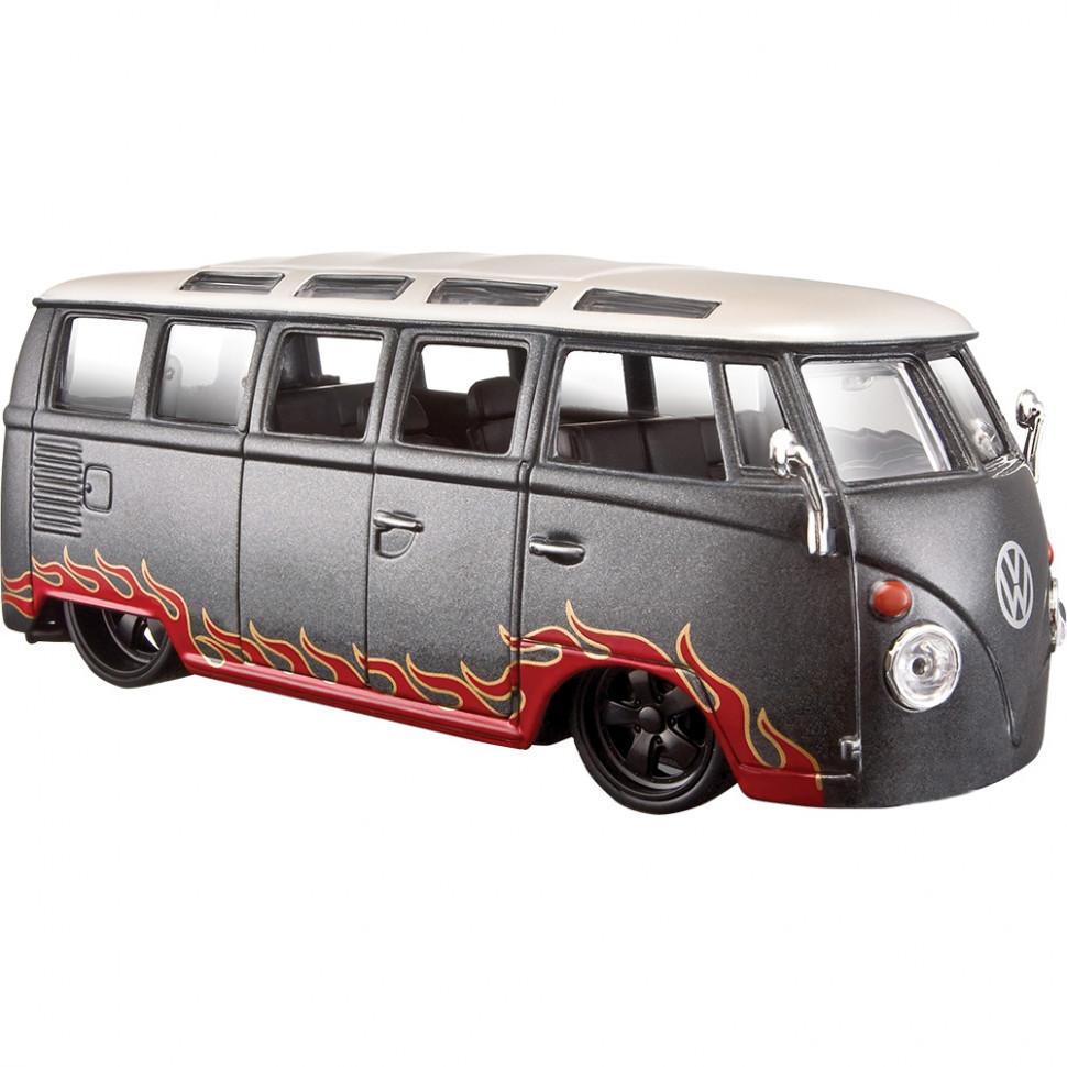 "Автомодель (1:25) Volkswagen Van ""Samba"" 31022 white/grey"