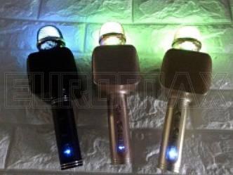 Микрофон караоке с подсветкой (цвета) 50шт YS68