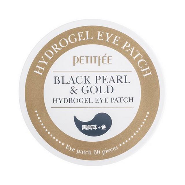 Патчи под глаза с коллоидным золотом и пудрой черного жемчуга Black Pearl & Gold Hydrogel Eye Patch Petitfee