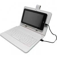 """Чехол с Клавиатурой для Планшетов 9"""" Дюймов (микро USB) Белый , фото 1"""