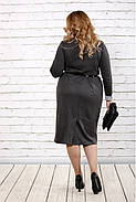 Женское строгое платье до колена 0722 / размер 42-74 / батальное, фото 4
