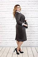 Женское строгое платье до колена 0722 / размер 42-74 / батальное, фото 2