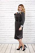 Женское строгое платье до колена 0722 / размер 42-74 / батальное, фото 3