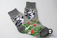 Шерстяные носки, теплые вязаные носочки, женские зимние носки