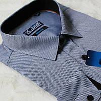 """Серая мужская рубашка """"Castello-Vichy"""""""