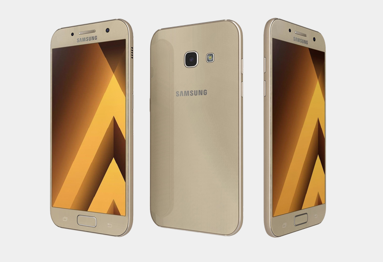 """Смартфон Samsung A320F Galaxy A3 2017 (SM-A320FZDD) Gold, 2/16Gb, 8 ядер, 13/8Мп, 4.7"""", 2 sim, 4G"""