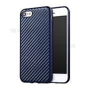 Карбоновый чехол для iPhone 7/8 Темно-синий