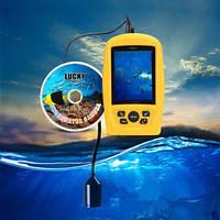 """Видео удочка Lucky FF3308-8 для зимней рыбалки 3.5"""" монитор, кабель 20 м, подсветка 4 ик диода, фото 1"""