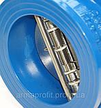 Клапан обратный чугунный межфланцевый двухстворчатый VITECH Ду65 Ру16, фото 8