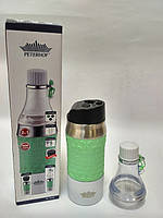 Термокружка Товарpeterhoff PH-12429 green 2 в 1 0,4 л., фото 1
