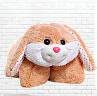Подушка-складушка Зайчик, плюшевая подушка трансформер, 3 в 1