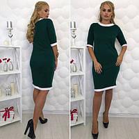 Платье-футляр Теффи темно-зеленое, женские платья