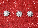 Пуговици с камнями для одежды, прозрачные, 22мм, фото 5