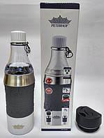 Термокружка Peterhof PH-12429 grey  2 в 1 0,4 л. , фото 1