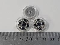 Пуговицы круглые, 18 мм, ручная работа, эмаль, камни., фото 1