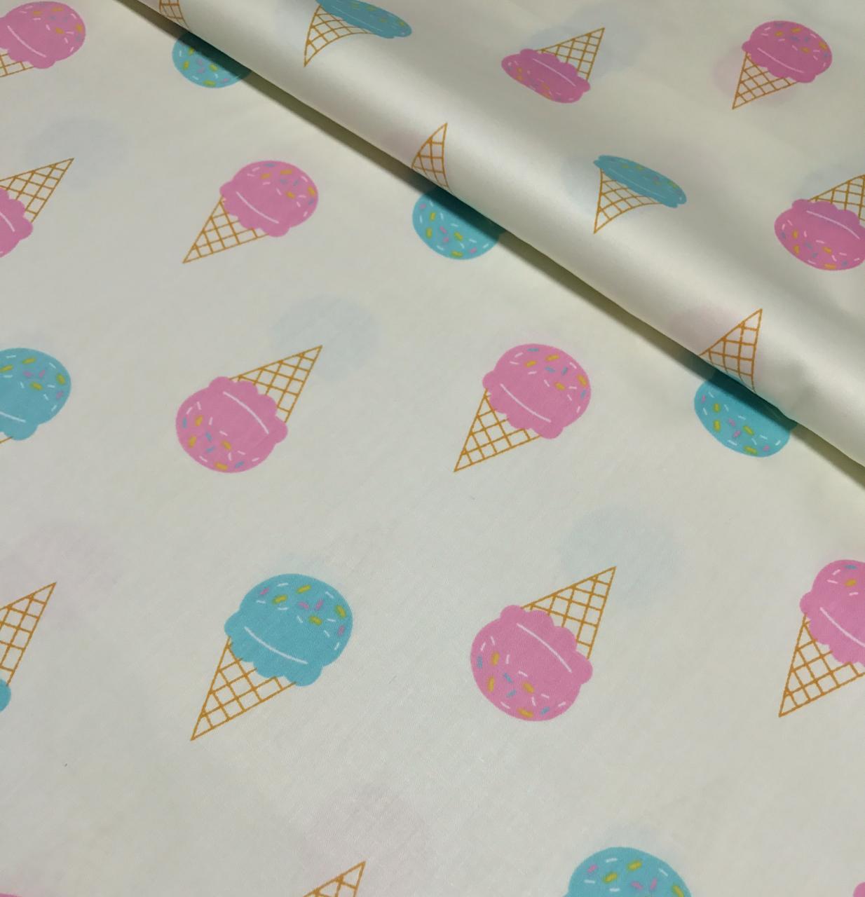 Хлопковая ткань мороженое разноцветные на молочном (КОРЕЯ) №154
