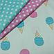 Хлопковая ткань мороженое разноцветные на молочном (КОРЕЯ) №154, фото 4