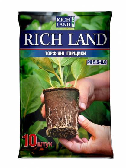 Торфяные горшки RICHLAND 6 * 6 квадрат (10шт)