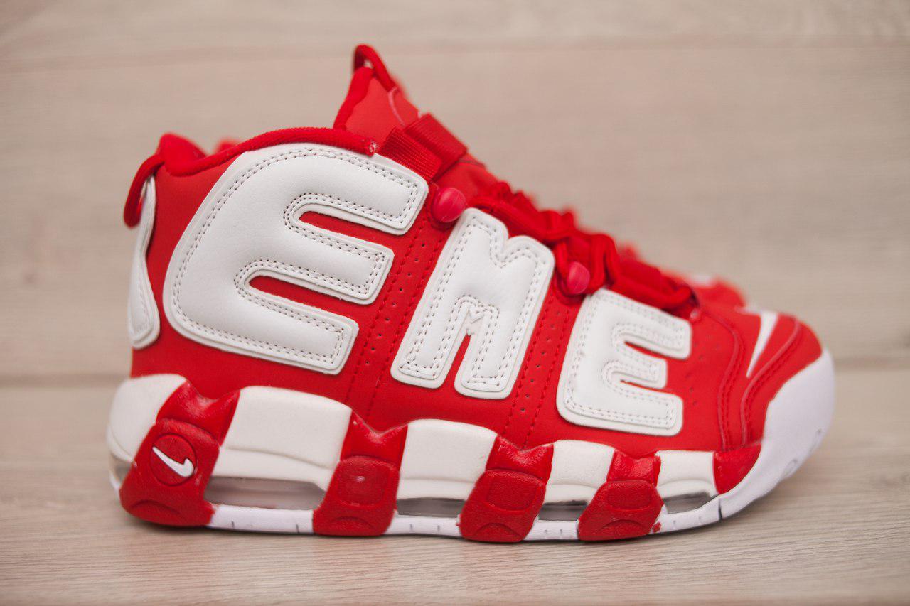 18aeaaae Мужские кроссовки Nike Air More Uptempo Supreme красные топ реплика -  Интернет-магазин обуви и