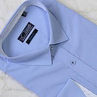 """Нежно голубая мужская рубашка в клетку """"Castello"""" , фото 1"""
