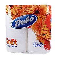 Туалетная бумага Диво Софт белая 4 шт