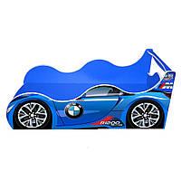 Кровать машина BMW-детская Драйв (синяя) 80*160 см, фото 1