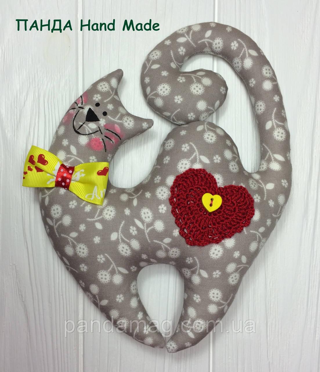 """Мягкая игрушка ручной работы """"Кот Валентин"""""""