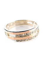 """Серебряное кольцо с золотом  Стюарт""""Г"""""""