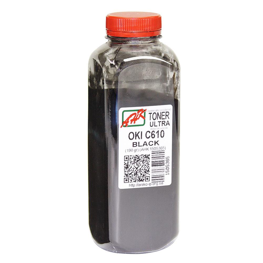 Тонер АНК для C610 бутль 190г Black (1505365) ULTRA COLOR