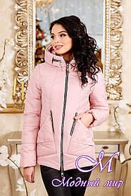 Женская розовая демисезонная куртка  (р. 44-56) арт. 1011 Тон 28