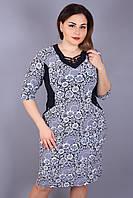 386bdb8f71b5 Платье большого размера Переплёт паутинка цветы, красивое платье большого  размера,нарядное платье для полных