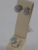 Комплект из серебра 925 пробы с фианитом (арт.02-Н10312)