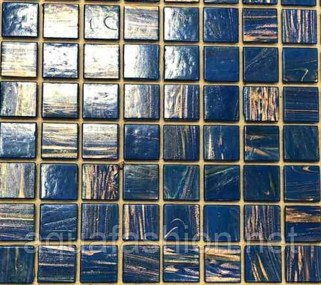 Синяя мозаика с авантюрином Vivacer G38