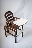 Детский стульчик-трансформер для кормления ребенка от производителя Дитячий сон цвет шоколад+ваниль