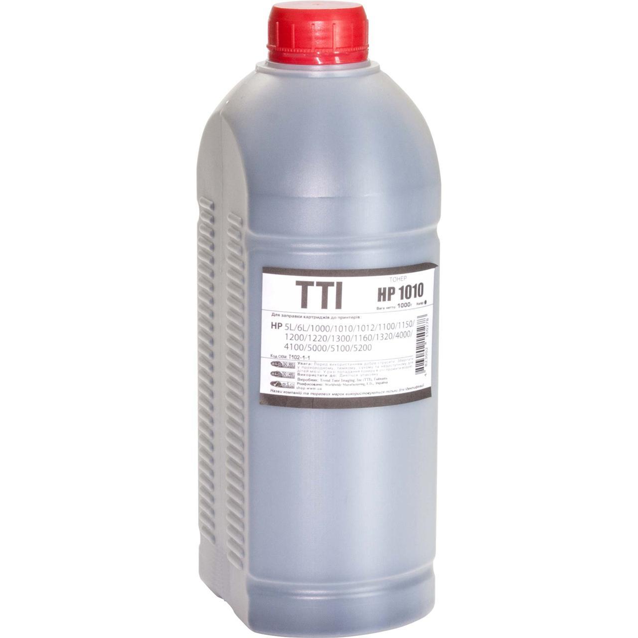 Тонер TTI для HP LJ 1010/1200/P2015 бутль 1000г (T102-1-1)
