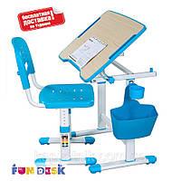 Растущий комплект парта+ стул для мальчика ТМ FunDesk Piccolino II Blue