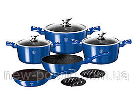 Набор посуды Berlinger Haus Metallic Line Royal Blue Edition 10 предметов BH-1658N
