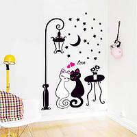 Інтер'єрна наліпка на стіну Закохані Коти / Интерьерная наклейка на стену Влюбленные коты (DM57-0099)