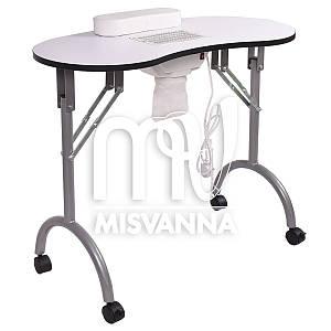 Маникюрный стол с врезной вытяжкой, подлокотником и сумкой (white)