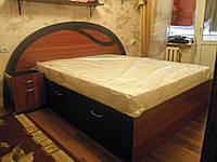 Кровать ДСП двуспальная Орхидея 5 выдвижные ящики матрац 2000*1800