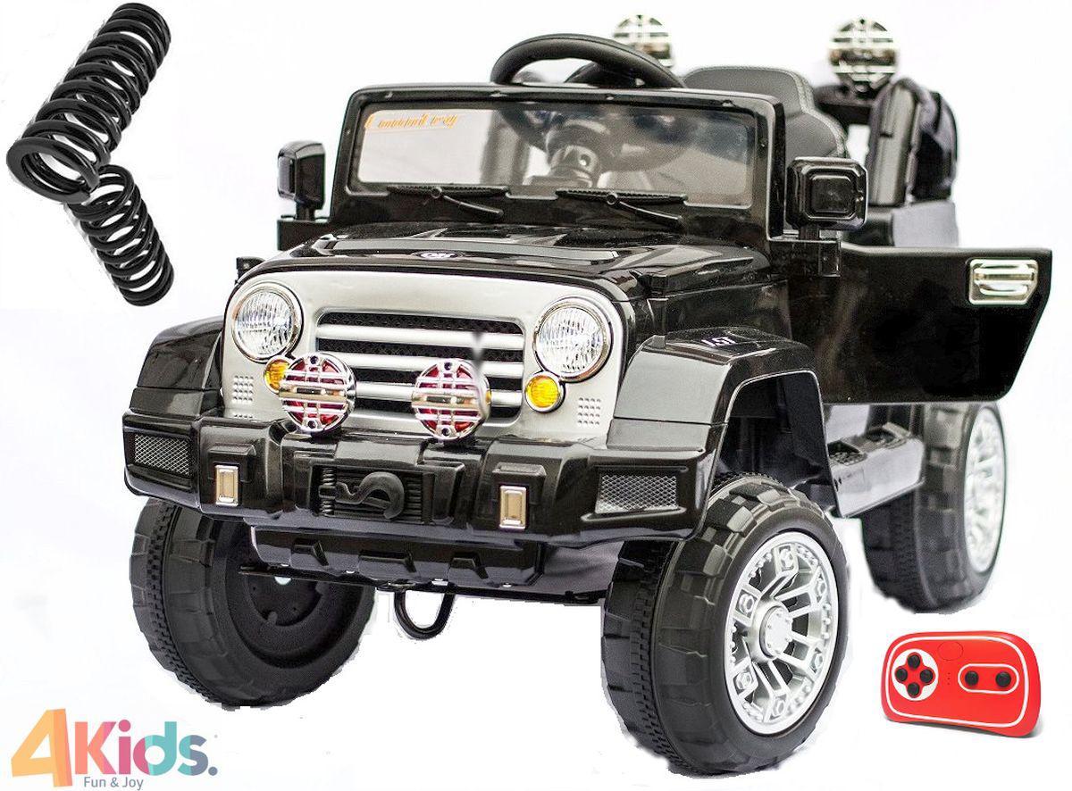 Детский электромобиль Jeep Wrangler + Кожа сидение + 2 мотора по 45 ватт