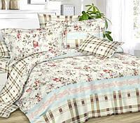 Полуторное постельное белье с простыней на резинке 90/200/25, Нуэль, ранфорс
