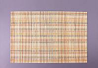 Коврик сервировочный бамбуковый 30х45 см. (крем.)