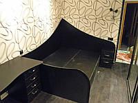 Кровать ДСП двуспальная Орхидея 7 чёрная матрац 2000*1400